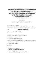 Der Schutz der Menschenrechte im Lichte von ... - WHI-Berlin