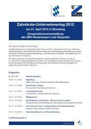 Zahnärzte-Unternehmertag 2012 - eazf