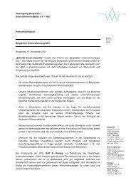 Presseinformation Bergischer Unternehmertag 2011 Wuppertal, 16 ...