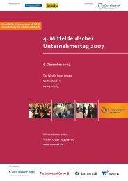 4. Mitteldeutscher Unternehmertag 2007 - Convent