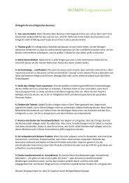 25 Regeln für ein erfolgreiches Business - Geld ist Liebe