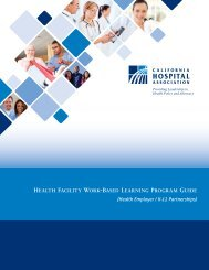 HealtH Facility Work-Based learning Program guide