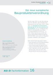 Bauproduktenverordnung - Austrian Standards Institute