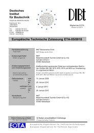 ETA-05/0018 - MKT Metall-Kunststoff-Technik GmbH & Co. KG