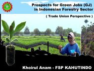 Prospects for Green Jobs in Forestry Sector Indonesia - International ...