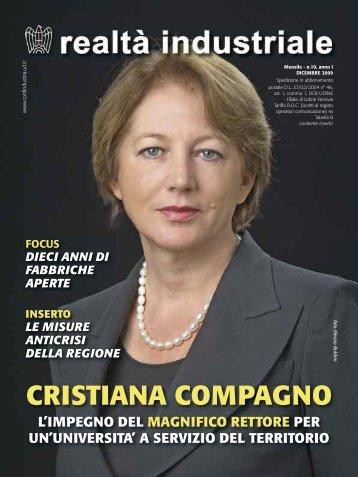 CRISTIANA COMPAGNO - Confindustria Udine