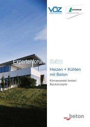 Heizen und Kühlen mit Beton, Tagungsband Expertenforum - Lafarge