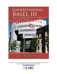 basel iii book - Basel iii Compliance Professionals Association