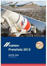 Download Preisliste Oberösterreich - CEMEX Austria AG