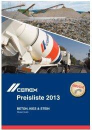 Download Preisliste Steiermark - CEMEX Austria AG