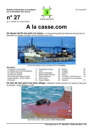 n° 27 A la casse.com - Robin des Bois