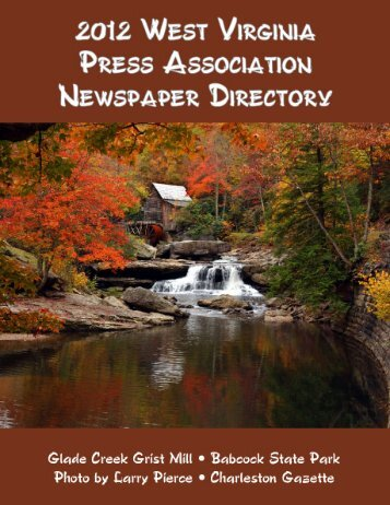 2012 NEWSPAPER DIRECTORY West Virginia Press Association