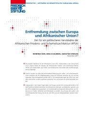 Entfremdung zwischen Europa und Afrikanischer Union? : Zeit für ...