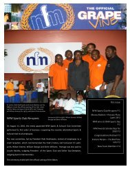 NFM Sports Club Re-opens - National Flour Mills Limited