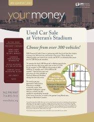 Used Car Sale at Veteran's Stadium - LBS Financial Credit Union