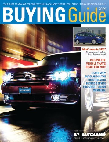 What's new in 2009? CHOOSE THE VEHICLE THAT'S ... - Autoland