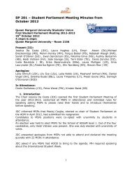 Papers SP2 - Edinburgh - Queen Margaret University Students' Union