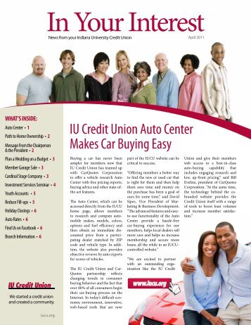 IU Credit Union Auto Center Makes Car Buying Easy