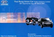 Thai Rung Union Car Public Company Limited SET Opportunity Day ...