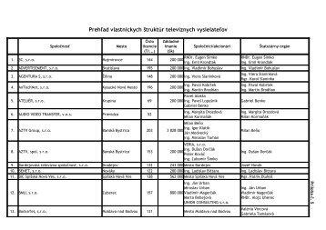 Prehľad vlastníckych štruktúr televíznych vysielateľov (PDF)