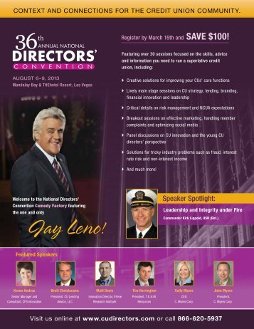 Brochure - 36th Annual National Directors' Convention