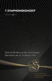 7. Symphoniekonzert - Staatskapelle Dresden