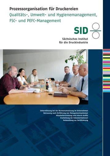 Prozessorganisation für Druckereien Qualitäts-, Umwelt- und ...