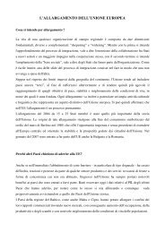 l'allargamento dell'unione europea - Consiglio regionale del Piemonte