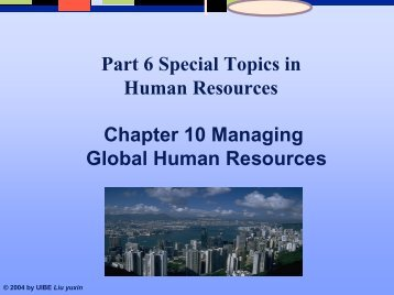 Chapter 10 Managing Global Human Resources