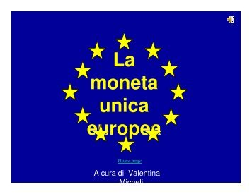 La moneta unica europea