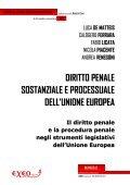 DIRITTO PENALE SOSTANZIALE E PROCESSUALE DELL'UNIONE ... - Page 2