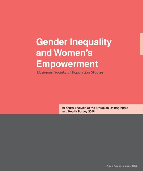Gender Inequality and Women's Empowerment - UNFPA Ethiopia