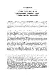 I diritti sociali nell'Unione europea dopo il Trattato di ... - Principi-UE