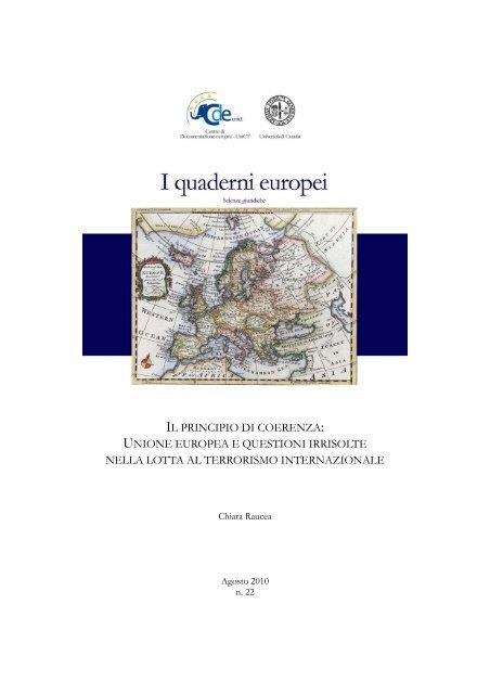 IL PRINCIPIO DI COERENZA: UNIONE EUROPEA ... - Giurisprudenza