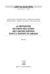 Il Diritto dell'Unione Europea - Università di Catania
