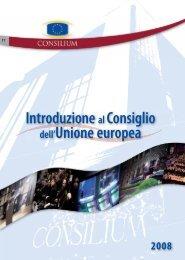 Introduzione al Consiglio dell'Unione europea - Europa