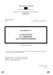 LA SLOVENIA E L'ADESIONE ALL'UNIONE EUROPEA - Europa