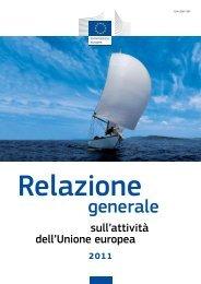 Relazione generale sull'attività dell'Unione europea 2011 - Europa