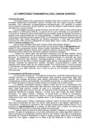 le competenze fondamentali dell'unione europea - Aeee Italia ...