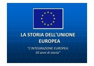 LA STORIA DELL'UNIONE EUROPEA - Arces