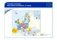L'Unione europea: 500 milioni di abitanti, 27 paesi