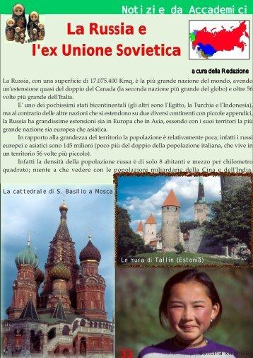 La Russia e l'ex Unione Sovietica - Accademia geografica mondiale
