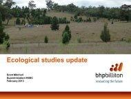 Ecological studies update - BHP Billiton
