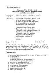 Protokoll zur Sitzung des Bauausschusses am 12.09.2012 - Lensahn