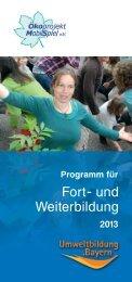 Unser Programm für Fort- und Weiterbildung 2013 ... - Mobilspiel eV