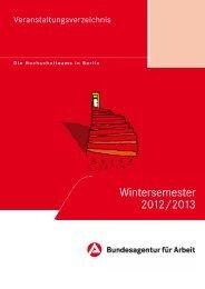 Wintersemester 2012/2013 - Bundesagentur für Arbeit