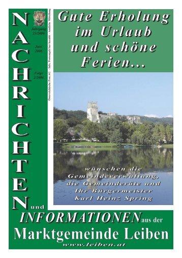 Gemeindezeitung 2/2006 - Marktgemeinde Leiben