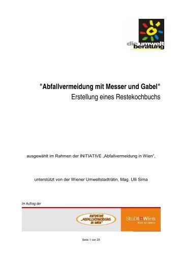 """""""Abfallvermeidung mit Messer und Gabel"""" Erstellung ... - Weniger Mist"""