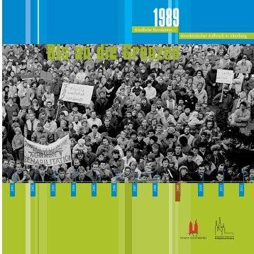 Flyer zum 20. Jahrestag der friedlichen Revolution (PDF