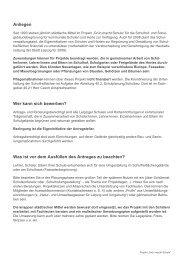Informationsblatt und Ansprechpartner